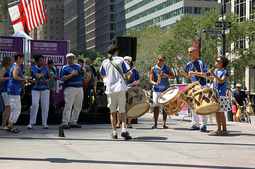 Trommelgruppe New York Summer Streets