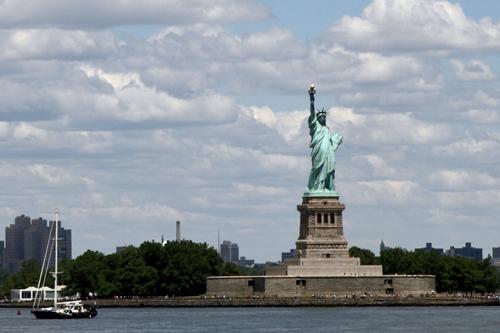 Freiheitsstatue auf Liberty Island