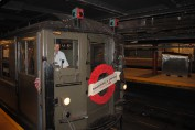 Historischer New Yorker U-Bahn Wagen