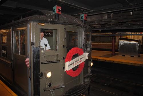 Historischer New Yorker U-Bahn Wagen