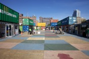 Der Markt aus Containern in Brooklyn Downtown