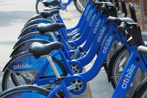 Leihstation der Citi Bikes in New York