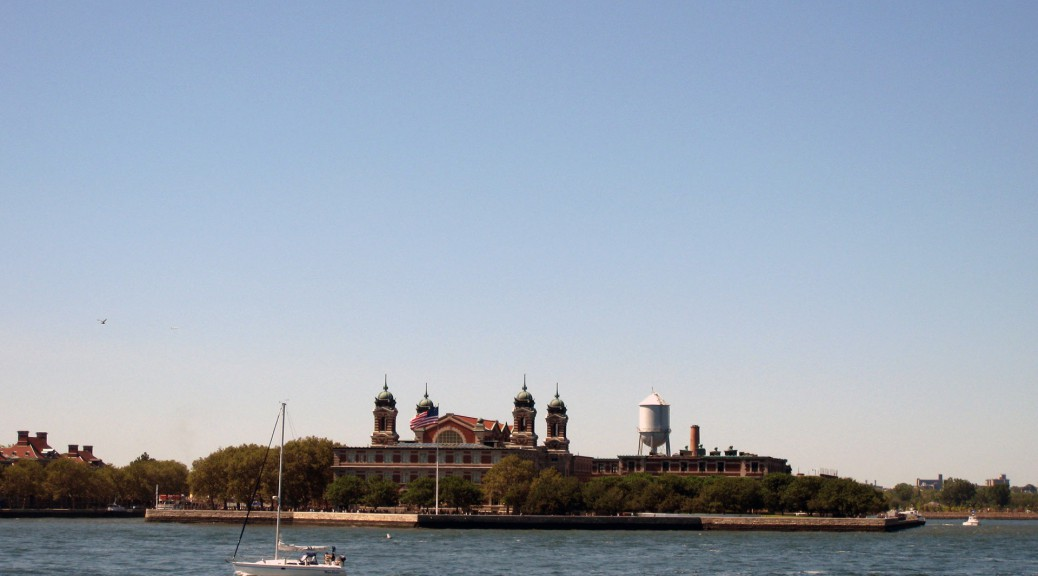 Blick auf Ellis Island