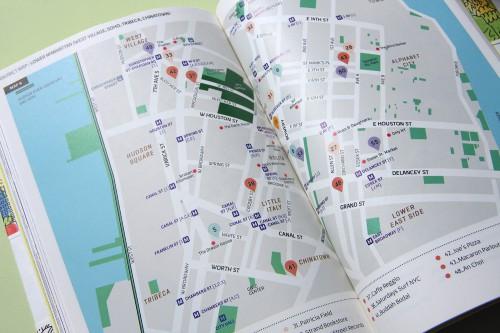 Ein Übersichtsplan für die New York Tipps in Manhattan zur Vorbereitung der Touren